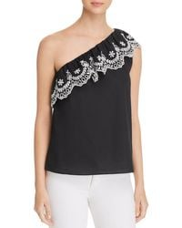 Kate Spade - Embroidered One-shoulder Top - Lyst