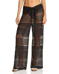 Kenneth Cole - Lace Swim Cover-up Pants - Lyst