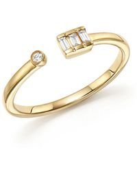 Dana Rebecca | 14k Yellow Gold Sadie Pearl Baguette Diamond Ring | Lyst