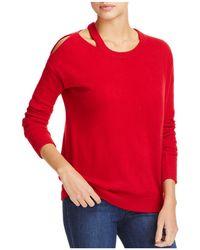 Minnie Rose   Cut It Out Cashmere Sweater   Lyst