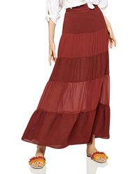 BCBGeneration - Tiered Chiffon Maxi Skirt - Lyst