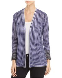 NIC+ZOE - Striped Space Open-front Cardigan - Lyst