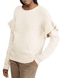 Ralph Lauren - Lauren Ruffle-sleeve Sweater - Lyst