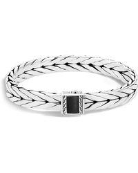 John Hardy - Sterling Silver Modern Chain Bracelet With Black Onyx - Lyst