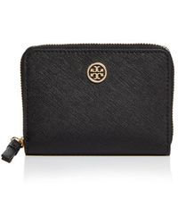 Tory Burch - Robinson Leather Zip Coin Case - Lyst