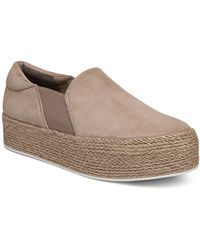 Vince - Women's Wilden Suede Espadrille Platform Slip-on Trainers - Lyst