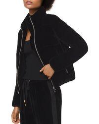 MICHAEL Michael Kors - Velvet Puffer Jacket - Lyst