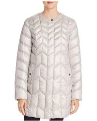 Via Spiga - Packable Chevron-quilted Down Coat - Lyst