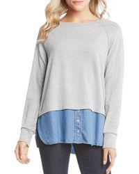 Karen Kane - Layered Look Sweatshirt - Lyst