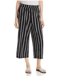 Eileen Fisher - Striped Wide-leg Crop Trousers - Lyst