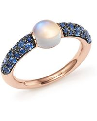 Pomellato - M'ama Non M'ama Ring With Adularia And Blue Sapphire In 18k Rose Gold - Lyst