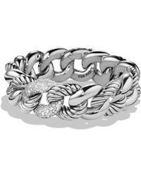 David Yurman - Belmont Bracelet With Diamonds - Lyst