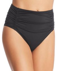 Tommy Bahama - Pearl Shirred High-waist Bikini Bottoms - Lyst