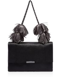 848eb3950c667 Lyst - Ted Baker Madiiee Leather Pom Belt Bag in Black