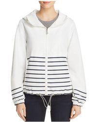 Vince Camuto | Coated Striped Rain Jacket | Lyst