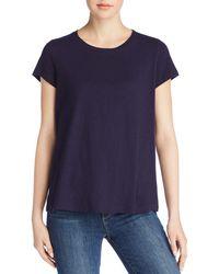 Eileen Fisher - Organic Cotton Slub-knit Tee - Lyst