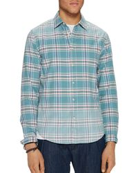 Scotch & Soda - Bleached Plaid Relaxed Fit Shirt - Lyst