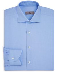Canali - Crosshatch Textured Solid Regular Fit Dress Shirt - Lyst