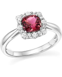 Bloomingdale's - Cushion-cut Pink Tourmaline And Diamond Ring In 14k White Gold - Lyst