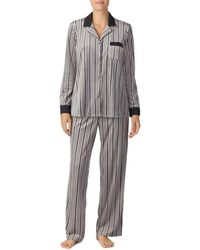 Donna Karan - Notch Collar Pajama Set (caspian Print) Women's Pajama Sets - Lyst