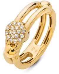 Hulchi Belluni | 18k Yellow Gold Tresore Diamond Single Ring | Lyst