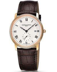 """Frederique Constant - Frédérique Constant """"slim Line"""" Quartz Watch - Lyst"""