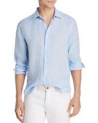 Bloomingdale's - Bi-color Linen Classic Fit Shirt - Lyst