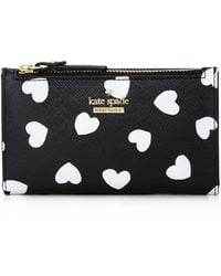 Kate Spade - Cameron Street Hearts Mikey Leather Wallet - Lyst