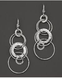 Ippolita - Sterling Silver Hammered Jet Set Earrings - Lyst