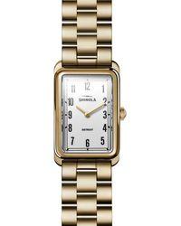 Shinola - The Muldowney Pvd Gold Bracelet Watch - Lyst