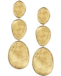 Marco Bicego - 18k Yellow Gold Lunaria Three Drop Earrings - Lyst