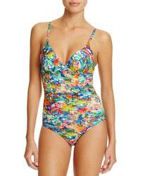 Paul Smith - Watercolor Balconette One Piece Swimsuit - Lyst
