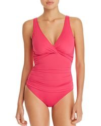 Ralph Lauren - Lauren Beach Twist Underwire One Piece Swimsuit - Lyst