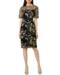 Hobbs - Phoebe Embroidered Illusion Dress - Lyst