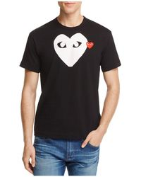 Play Comme des Garçons - Comme Des Garçons Play Double Heart Logo Graphic Tee - Lyst