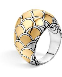 John Hardy - Sterling Silver & 18k Gold Naga Dome Ring - Lyst
