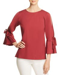 Lafayette 148 New York - Jeanne Slit Bell Sleeve Top - Lyst