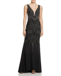 Betsy & Adam - Embellished Gown - Lyst