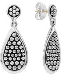 Lagos - Sterling Silver Bold Caviar Teardrop Earrings - Lyst