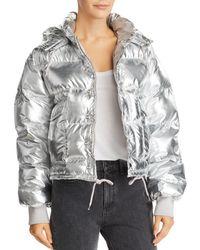 Pistola - Shazia Metallic Hooded Puffer Jacket - Lyst