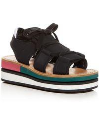 Marni - Color-block Platform Wedge Sandals - Lyst