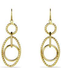 David Yurman - Mobile Small Link Earrings In Gold - Lyst