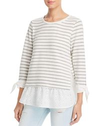 Status By Chenault - Eyelet Layered Look Top - Lyst