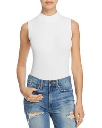 Bardot - Ribbed Mock Neck Bodysuit - Lyst