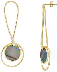 Argento Vivo - Twist Mother-of-pearl Drop Earrings In 18k Gold-plated Sterling Silver - Lyst