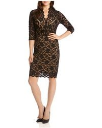 Karen Kane - V-neck Scalloped Lace Dress - Lyst