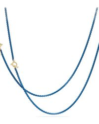 David Yurman - Dy Bel Aire Chain Necklace With 14k Gold Accents - Lyst