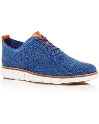 Cole Haan - Men's Zerogrand Stitchlite Knit Plain Toe Oxfords - Lyst