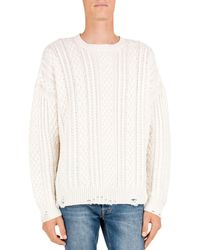 The Kooples - Cable-knit Wool & Cashmere Sweater - Lyst