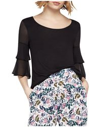 BCBGeneration - Tiered Bell Sleeve Top - Lyst